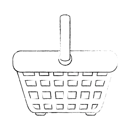 shopping basket icon over white background vector illustration Illustration