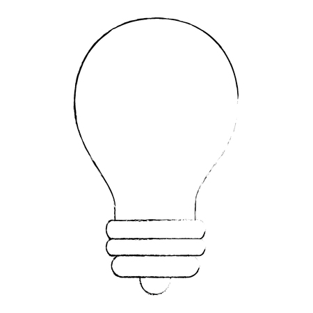 light bulb icon over white background vector illustration Imagens - 83300776