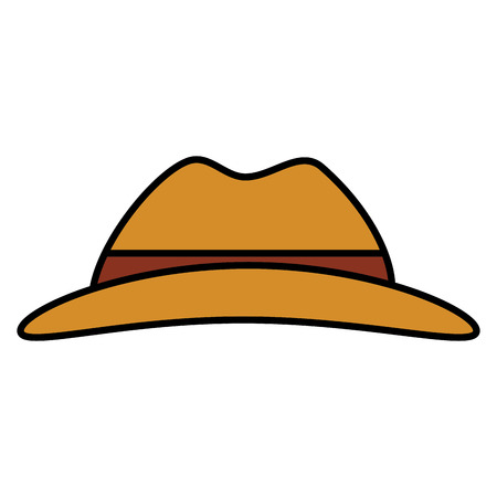 Tourist hat isolated icon vector illustration design Illustration