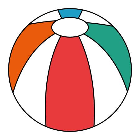 ビーチ分離バルーン アイコン ベクトル イラスト デザイン