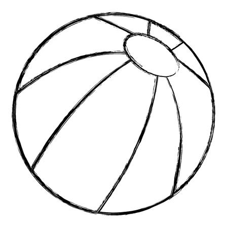 Strand Ballon isoliert Symbol Vektor-Illustration, Design, Standard-Bild - 83295697