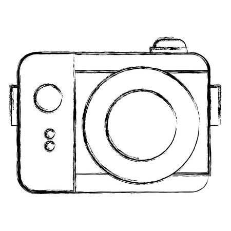 写真機のアイコン ベクトル イラスト デザインを分離しました。