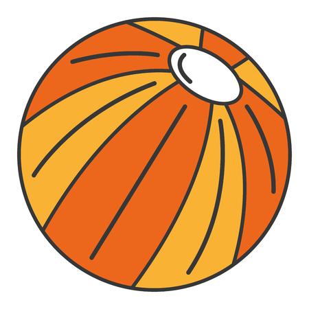Strand Ballon isoliert Symbol Vektor-Illustration , Design , Standard-Bild - 83310513