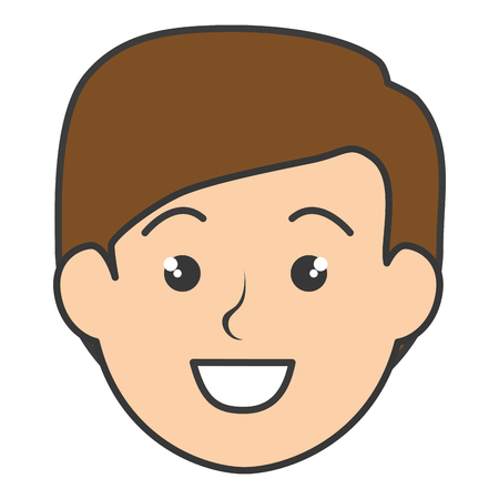 young man head avatar character vector illustration design Ilustrace