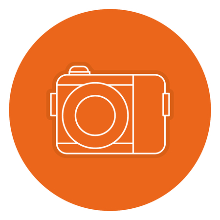 photography equipment: photographic camera isolated icon vector illustration design