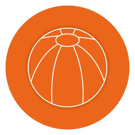 Strand Ballon isoliert Symbol Vektor-Illustration, Design, Standard-Bild - 83309671