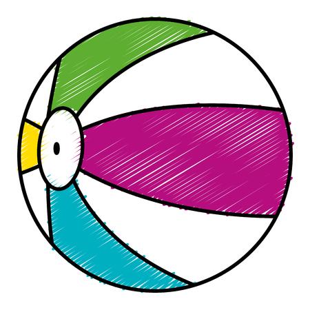 Strand Ballon isoliert Symbol Vektor-Illustration, Design, Standard-Bild - 83310026