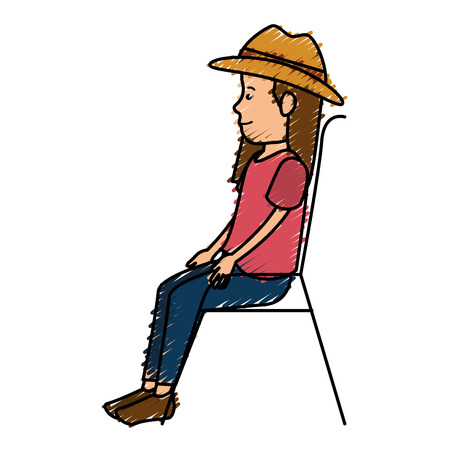 Beautiful woman avatar character vector illustration design Illustration