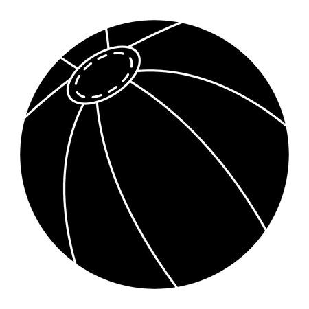 Strand Ballon isoliert Symbol Vektor-Illustration , Design , Standard-Bild - 83316065