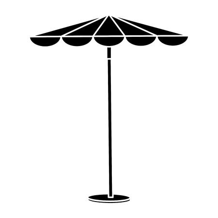 傘ビーチ アイコン ベクトル イラスト デザインを分離しました。