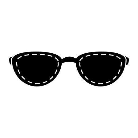 sunglasses summer isolated icon vector illustration design