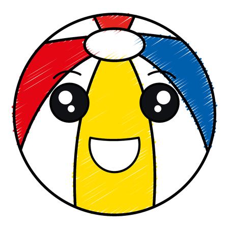 Strand Ballon isoliert Symbol Vektor-Illustration, Design, Standard-Bild - 83310356