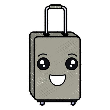 Voyage valise icône isolé illustration vectorielle conception Banque d'images - 83310358