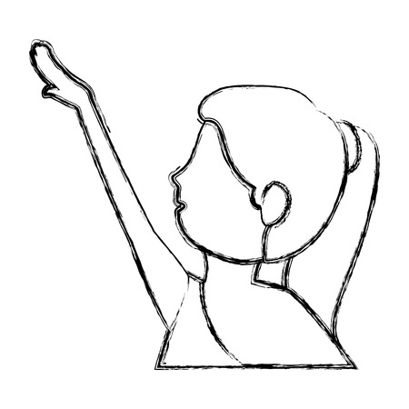 beautiful woman dancing vallet vector illustration design