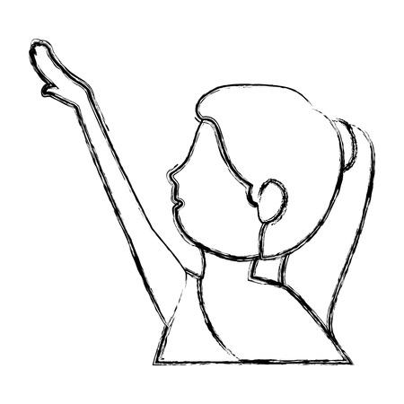Belle femme dansant vallet vector illustration design Banque d'images - 83310755
