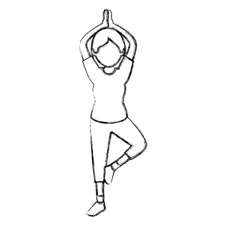 Belle femme danse .vector conception illustration vectorielle Banque d'images - 83310764