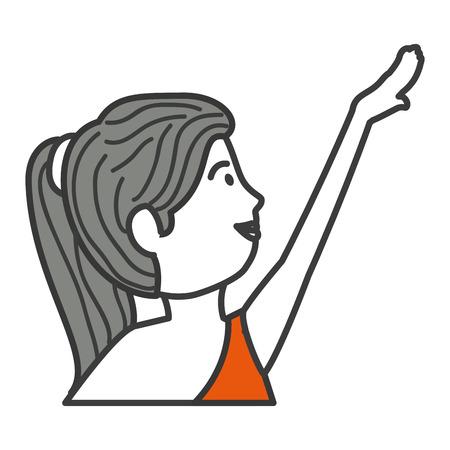 Belle femme dansant vallet vector illustration design Banque d'images - 83310576