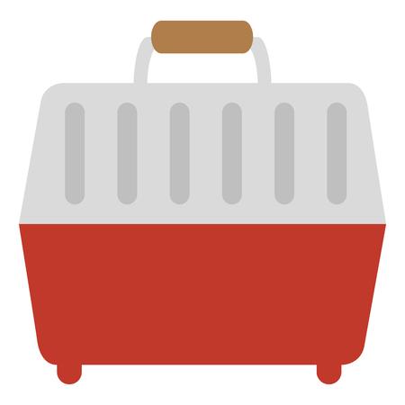 ペット キャリア ボックス アイコン ベクトル イラスト デザイン