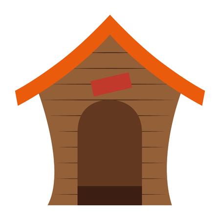hond huis geïsoleerd pictogram vector illustratie ontwerp