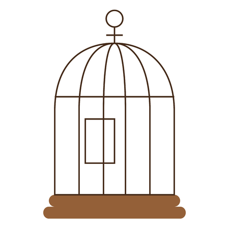 cage bird isolated icon vector illustration design