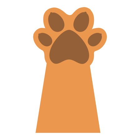 paw mascot isolated icon vector illustration design Stock Vector - 83337863