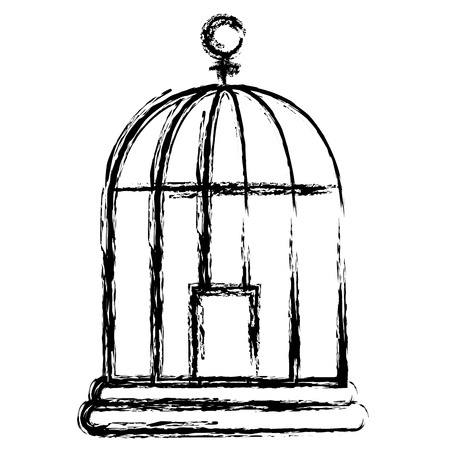 cage bird isolated icon vector illustration design