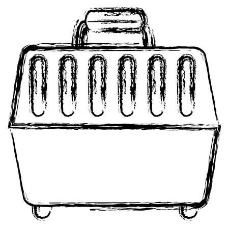 Pet carrier box icon vector illustration design Illustration