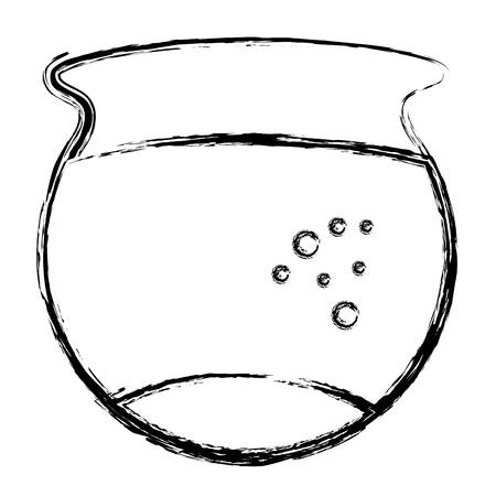 vis aquarium geïsoleerd pictogram vector illustratie ontwerp