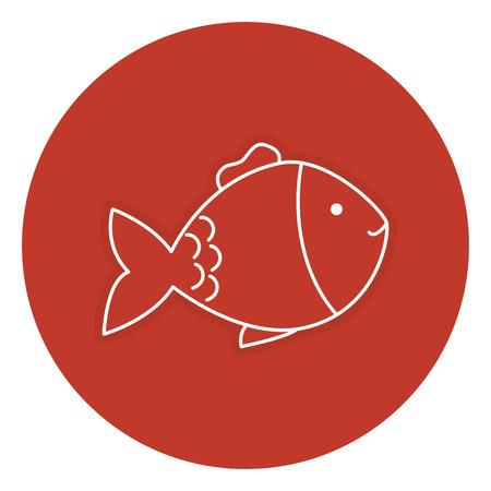 fish pet isolated icon vector illustration design