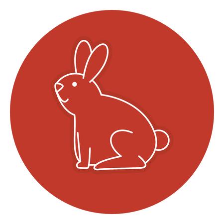 cute rabbit pet icon vector illustration design