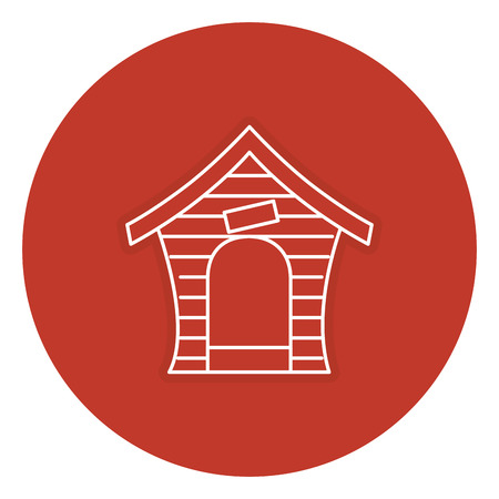 hond huis geïsoleerd pictogram vectorillustratieontwerp