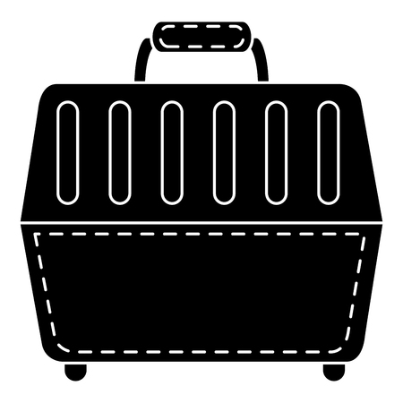Pet carrier box icon vector illustration design Illustration