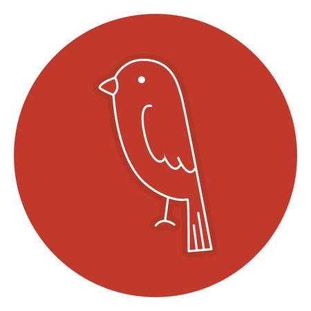 Diseño aislado pájaro lindo del ejemplo del vector del icono Foto de archivo - 83381740