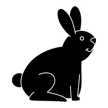 귀여운 토끼 애완 동물 아이콘 벡터 일러스트 디자인