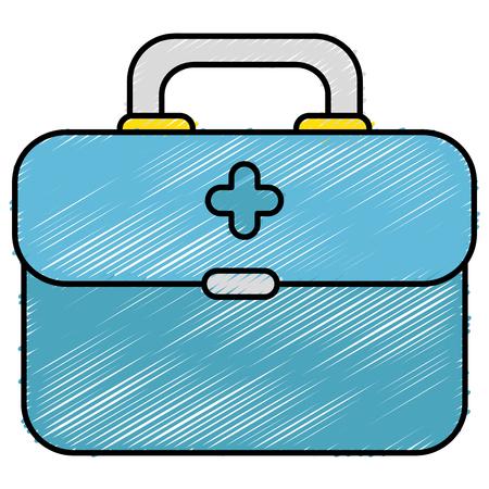 medizinische Kit isoliert Symbol Vektor-Illustration , Design ,