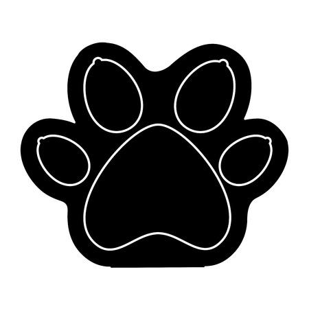 Mascotte de Paw icône isolée design d'illustration vectorielle Banque d'images - 83381746