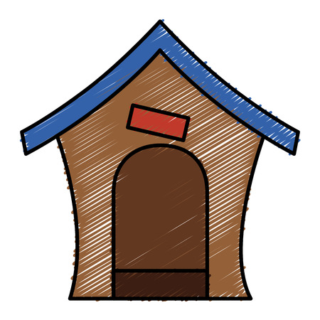 Dog house isolated icon vector illustration design 向量圖像