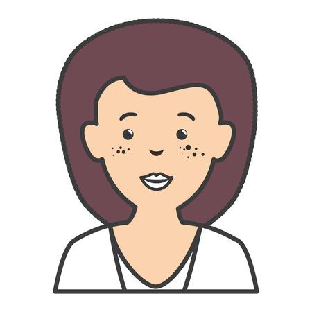 Beautiful businesswoman avatar character vector illustration design.
