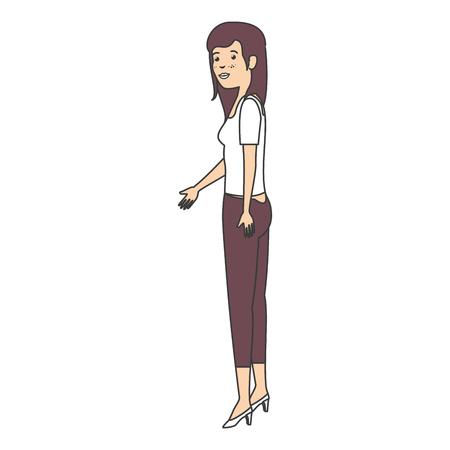 glamorous: beautiful businesswoman avatar character vector illustration design