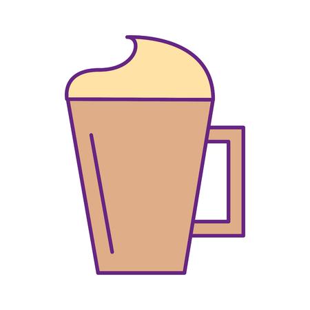 Ijst koffie kop geïsoleerd pictogram vector illustratie ontwerp
