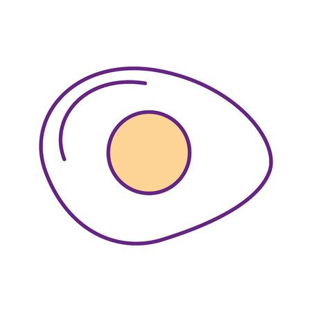 Gebakken ei geïsoleerd pictogram vector illustratie ontwerp