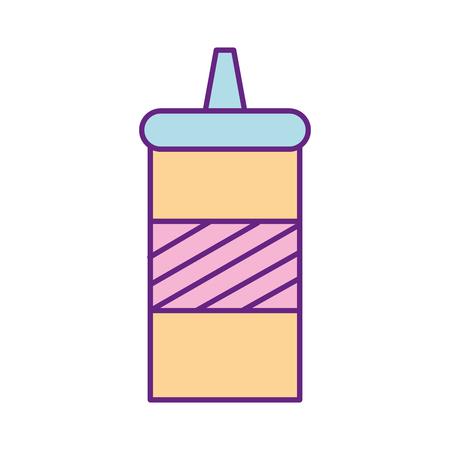 sauce bottle isolated icon vector illustration design Illustration