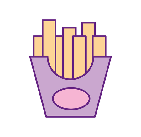 frieds potatoes isolated icon vector illustration design