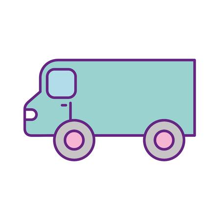 van vehicle isolated icon vector illustration design