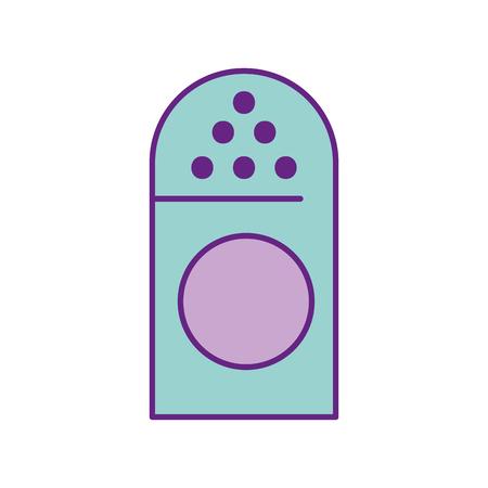 分離された塩のシェーカーのアイコン ベクトル イラスト デザイン