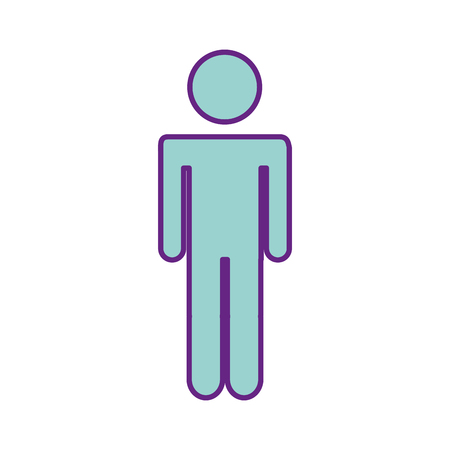 man gender silhouette isolated icon vector illustration design