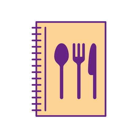カトラリー キッチン ベクトル イラスト デザインのレシピ本