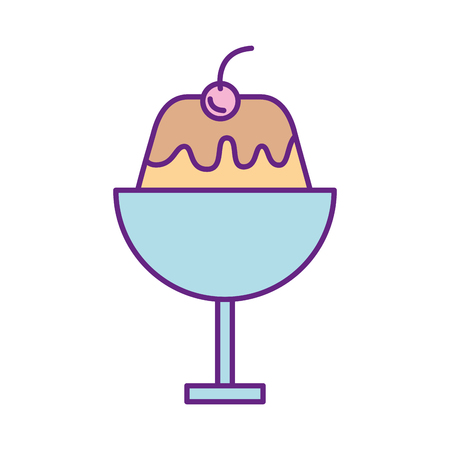 sweet pudding isolated icon vector illustration design