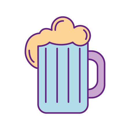 beer jar isolated icon vector illustration design Illustration