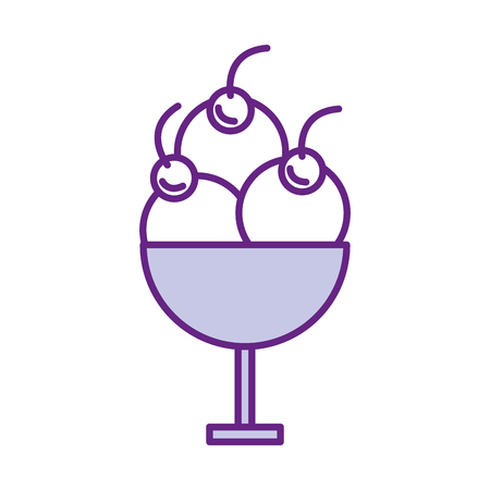 ice cream cup isolated icon vector illustration design